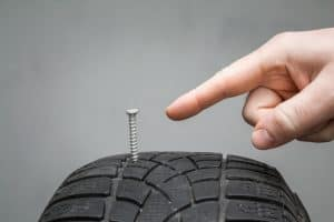 Driving with a nail in tire