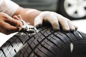 What to do when there is a nail on your tire