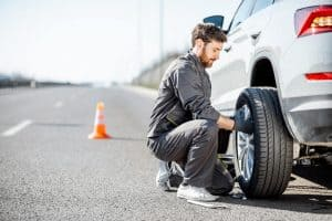 Changing A Tire on an incline