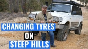 How to Change a Tire on a Hill or Slope