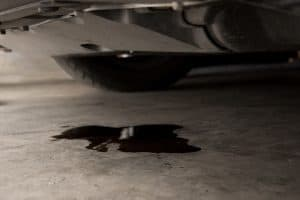 how long does it take for spilled oil to burn off engine