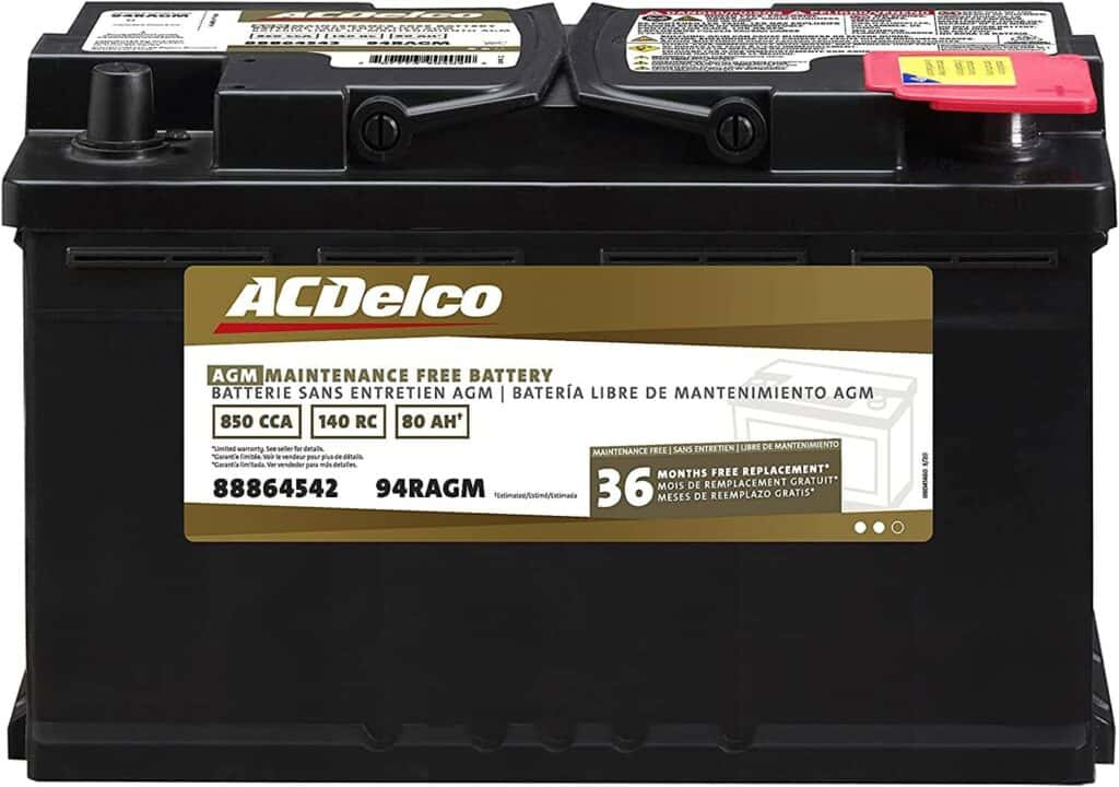 ACDELCO professional AGM 94R battery